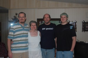 Chris, Mom, Me and Jesse at her place in FL.