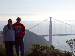 Renee and I at the Golden Gate Bridge on our 20th Anniversary