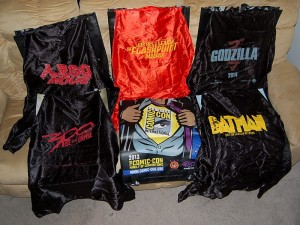 Coveted Comic-Con bags with capes