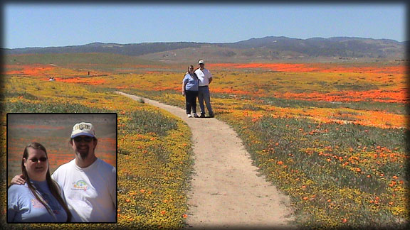 Doug & Renee at the Antelope Valley California Poppy Reserve